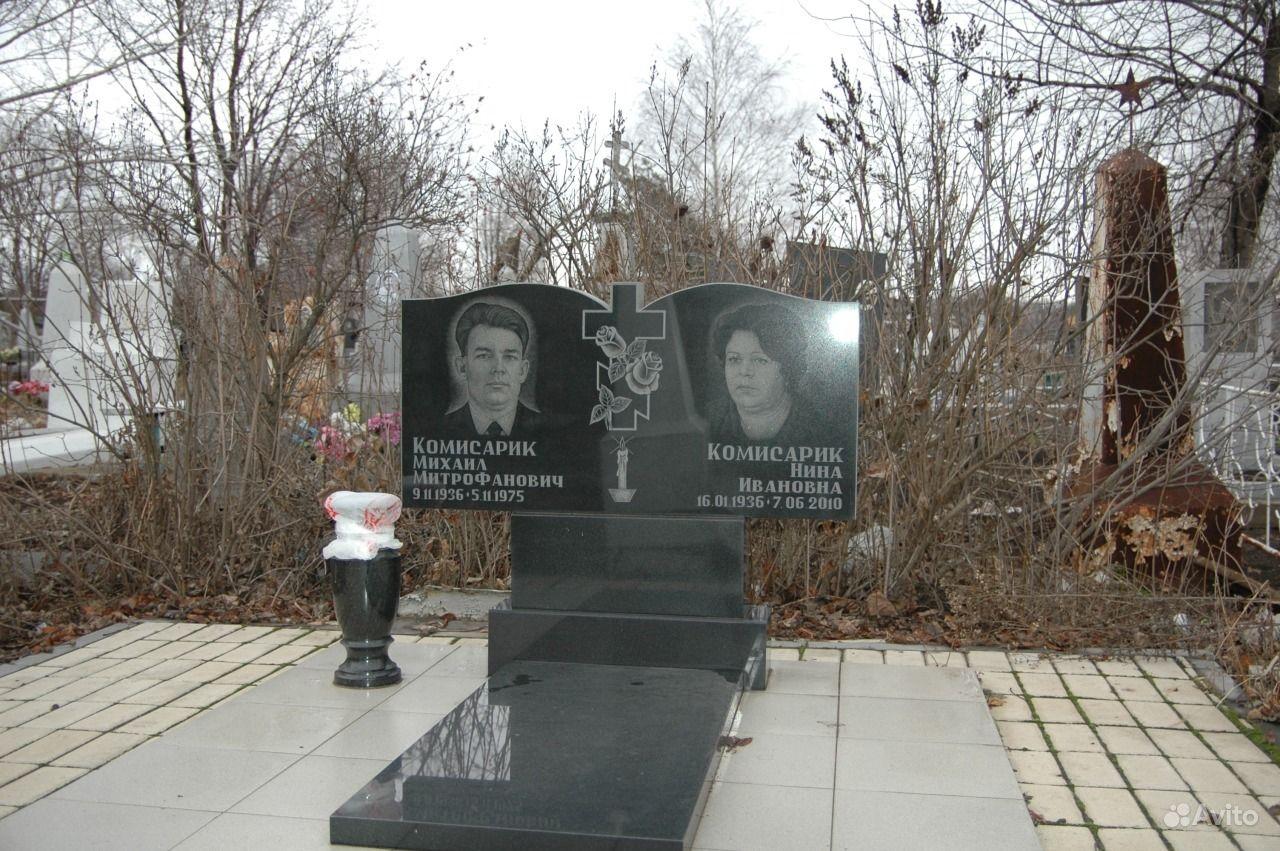 Памятник на могилку Верхотурье Эконом памятник с резным крестиком в углу Приморск, Калининградская обл.