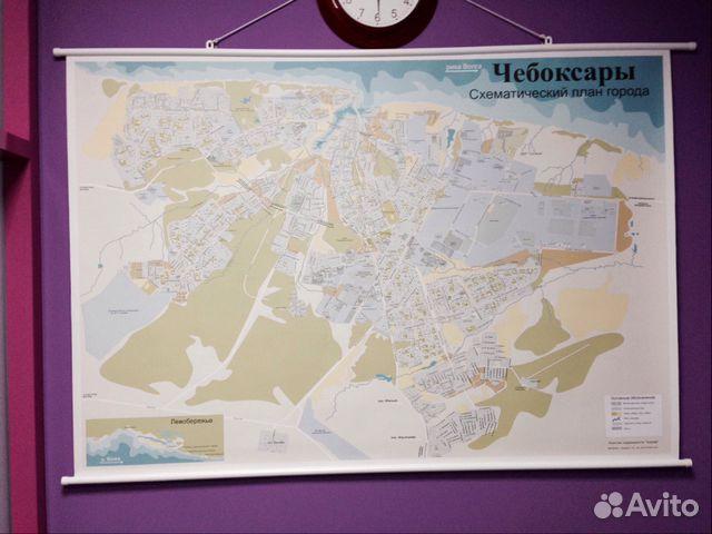 Карта схема города Чебоксары