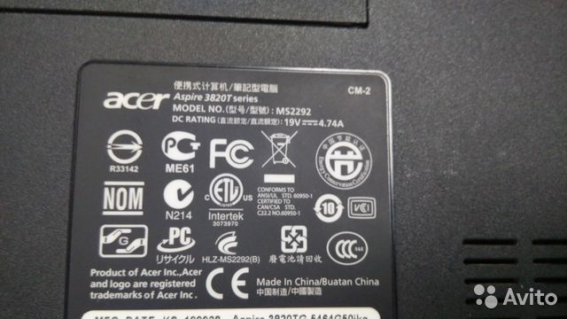 Acer Aspire TimelineX 382 T купить в Ленинградской