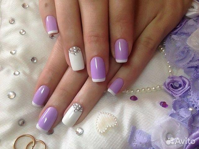 Дизайн ногтей цветными гелем