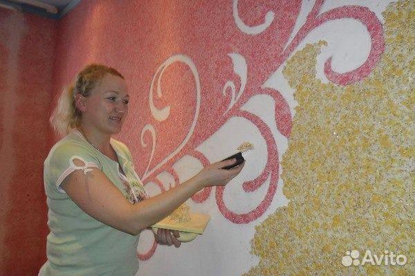 Жидкие обои рисунки на стенах как сделать