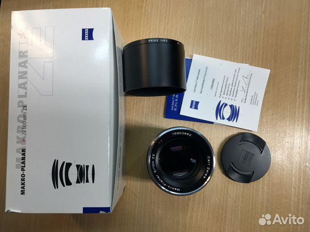 Carl zeiss canon 100 mm f/2 macro planar t ze
