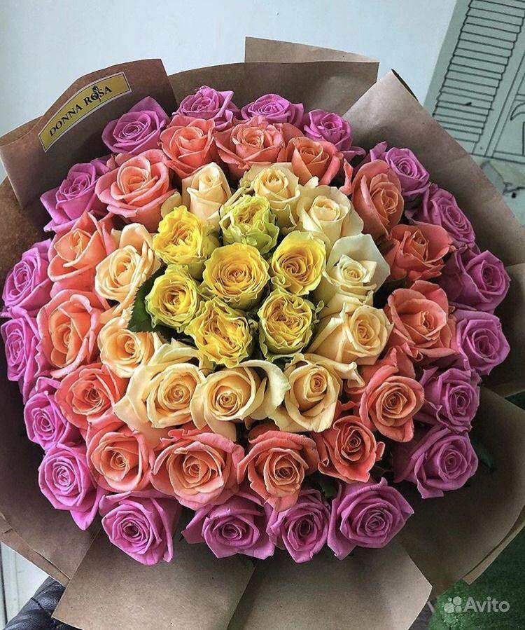 Букет из 51 розы купить на Зозу.ру - фотография № 1