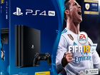 Sony Playstation 4 Pro (CUH-7008B) 1Tb Black+fifa