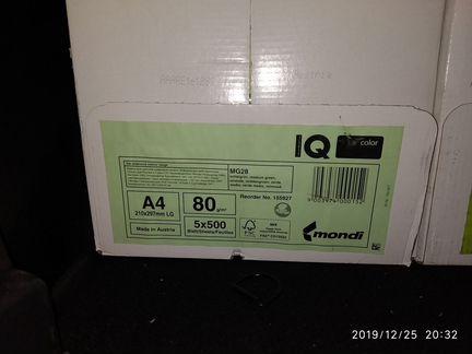 Бумага IQ color зеленая объявление продам