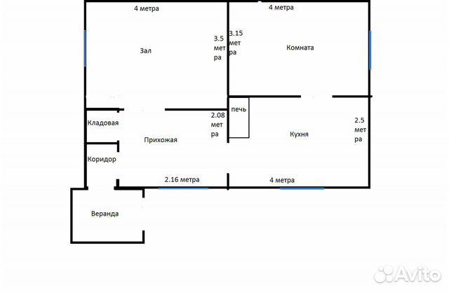 Дом 42 м² на участке 1 сот.