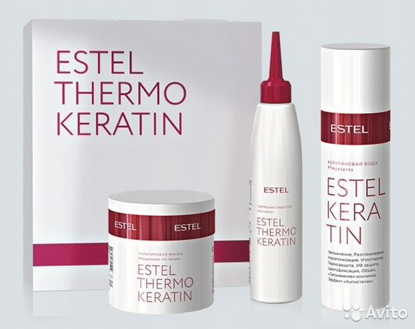 Набор для кератинового выпрямления волос эстель купить