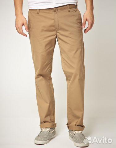 мужские брюки бежевые клетка