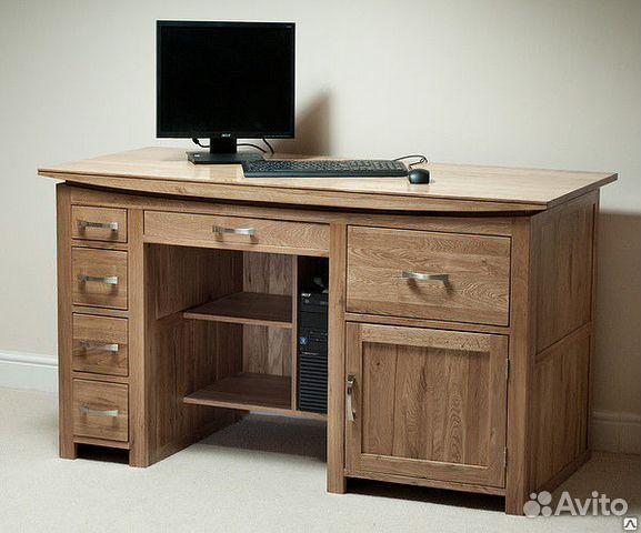 b496e11421c46 Компьютерный/письменный стол из массива дуба Tokyo купить в Санкт ...