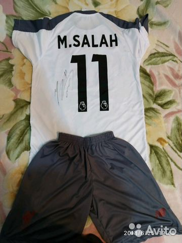 T-shirt with the signature of Mohamed Salah