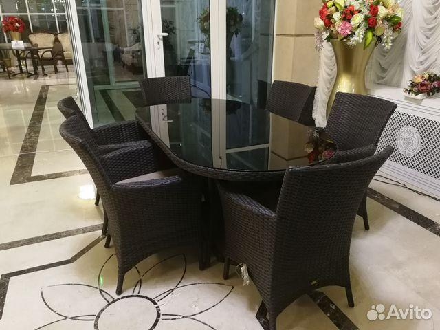 Плетеный стол с креслами из искусственного ротанга 89189817122 купить 3