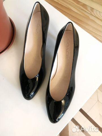 Туфли Coach. Черные лаковые на небольшом каблуке   Festima.Ru ... fcd56dc18be