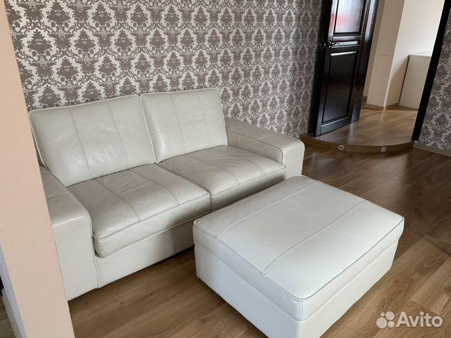 Комплект мягкой кожаной мебели luxe