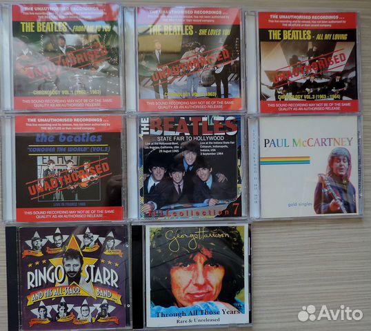 The Beatles bootleg CD/ Пиратские записи CD купить в Москве на Avito