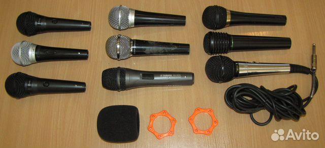 Вокальные микрофоны 9шт. Shure Yamaha Behringer купить 2