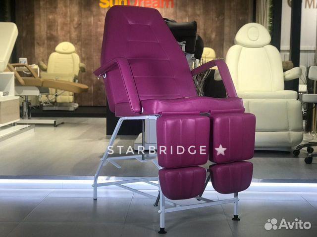 Кресло педикюрное цв. розовый 89282266618 купить 1