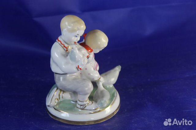 Фарфор статуэтка Дети и голуби Старый Киев Глобус 89203149703 купить 3