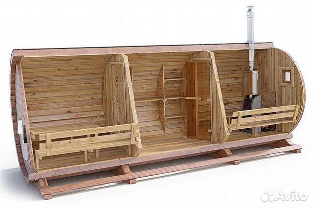 Баня-бочка из кедра от производителя, 5м, 3 отсека  89095479527 купить 2