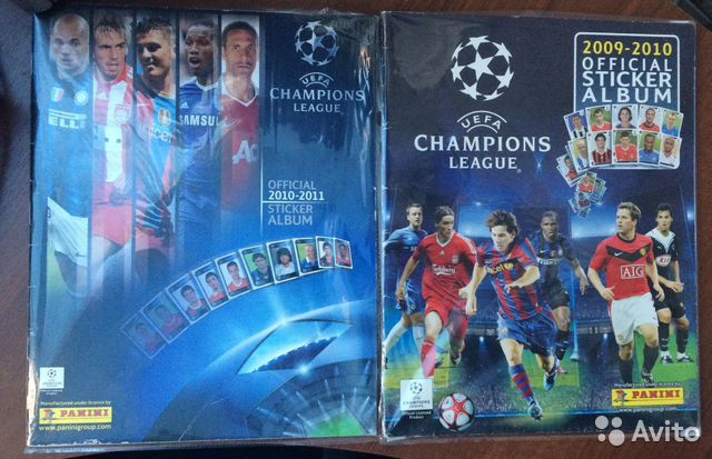 Uefa champions league panini 2 альбома  купить 1
