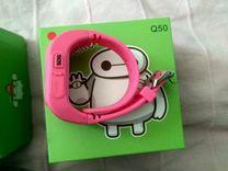 Детские часы с gps Q50, две пары