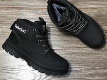 Мужские кожаные кроссовки- ботинки Timberla