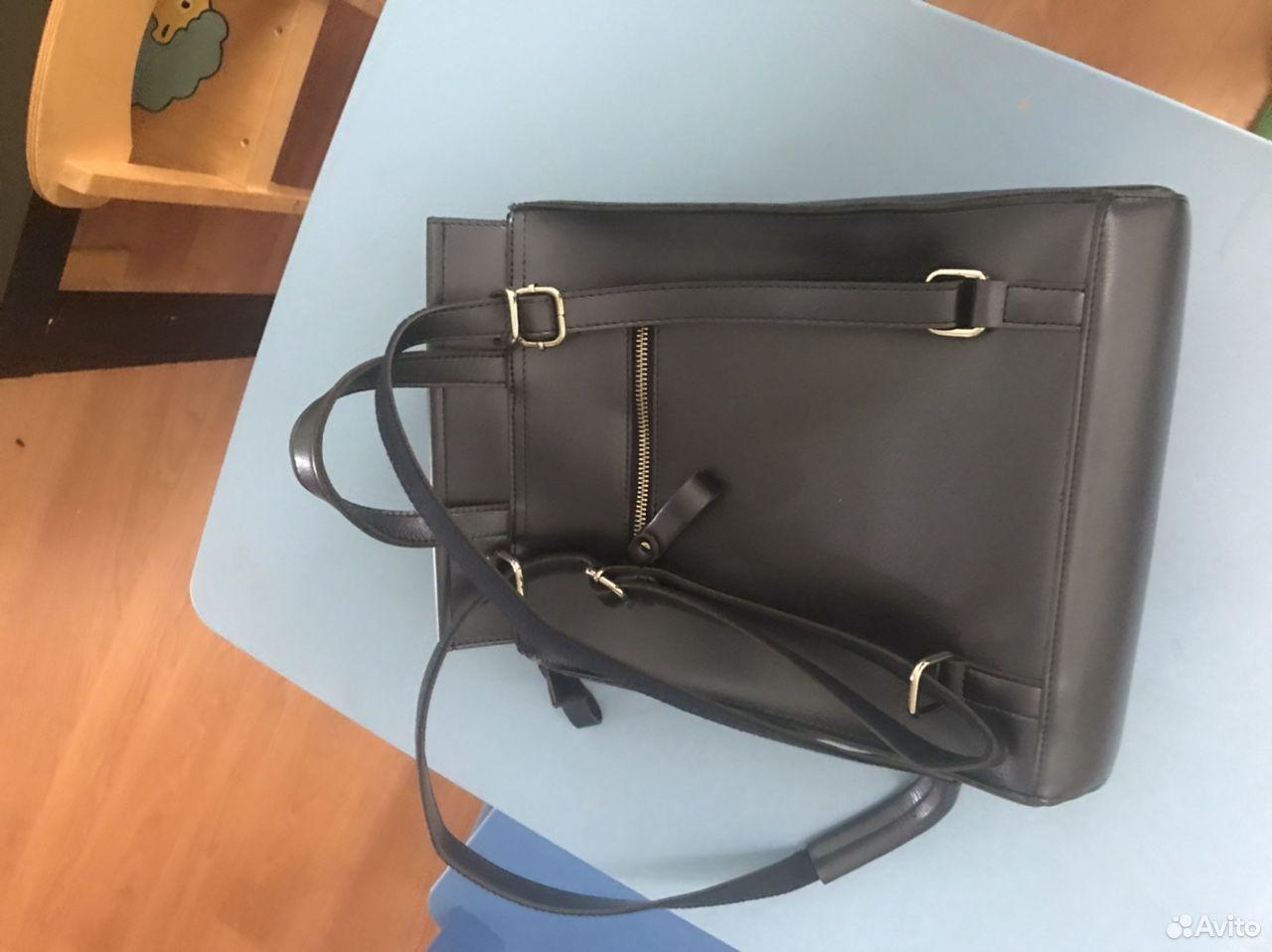 Рюкзак кожаный синий  89289050575 купить 3