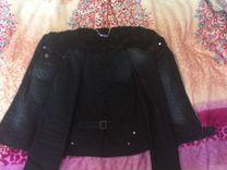 Куртка джинсовая, весна-осень б/у в хорошем состоя