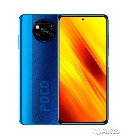 Poco X3 NFC(6/64),Запечатанный синий