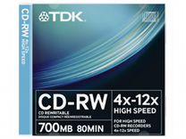 Диски CD-RW TDK, 700Mb