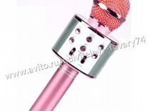 Микрофон караоке WS-858 розовый