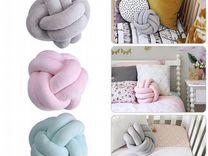 Подушка узел, цвет розовый