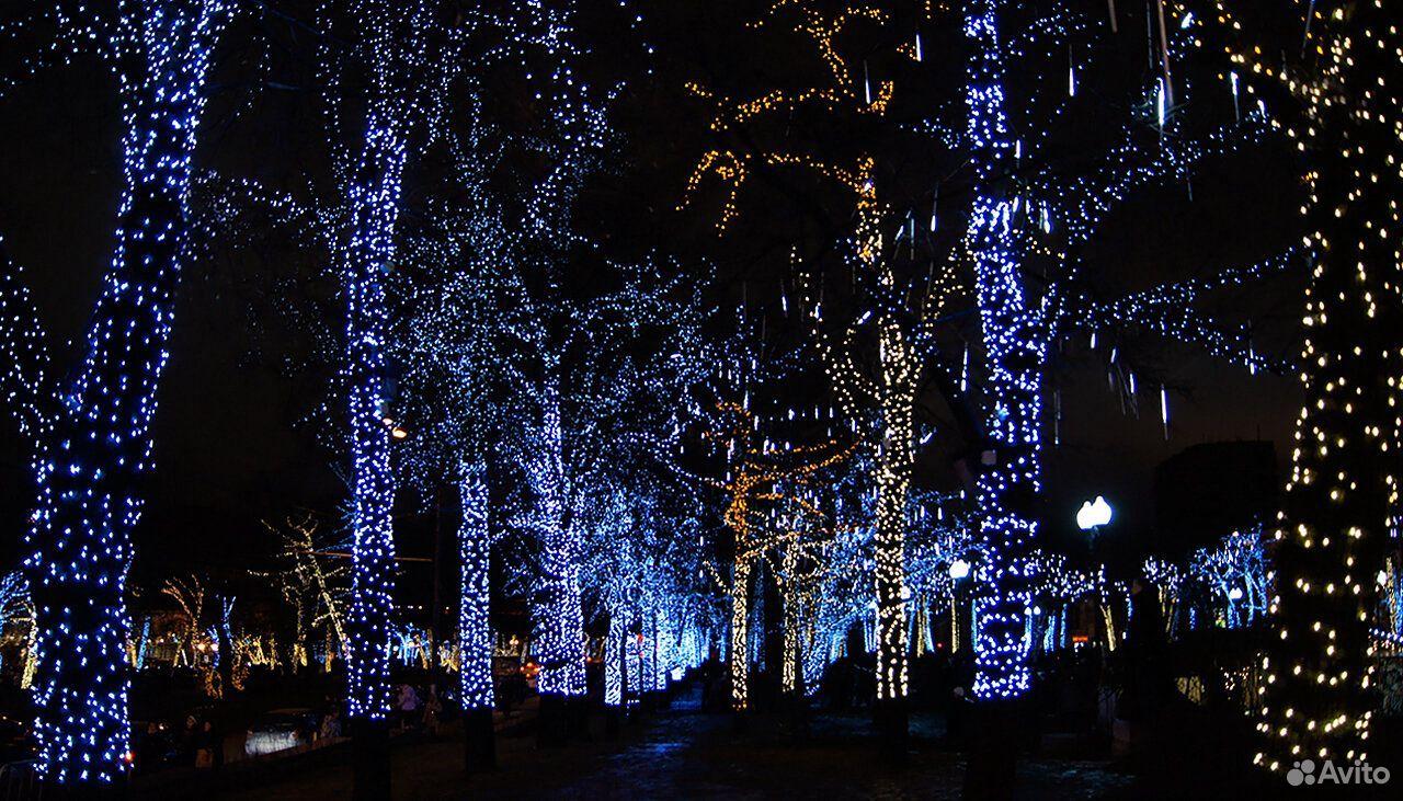 Гирлянды на дерево новогоднее оформление  89613169763 купить 9