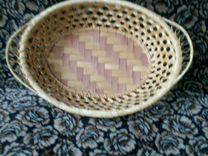 Вазочка плетеная, новая