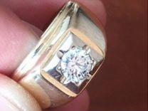 Золотой перстень с бриллиантом 0,61 торг