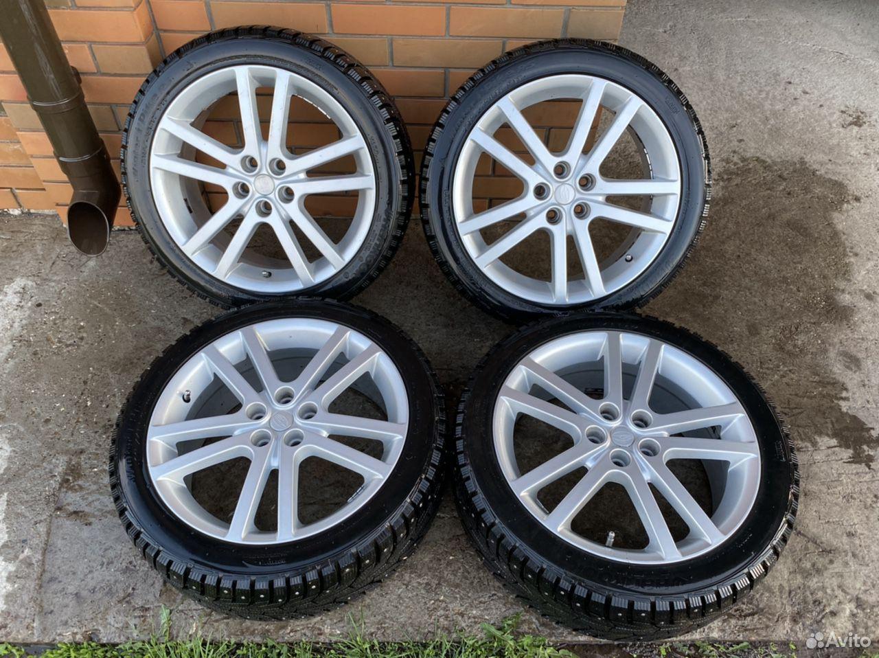 Комплект новых зимних колес на Subaru Sti  89956815638 купить 1