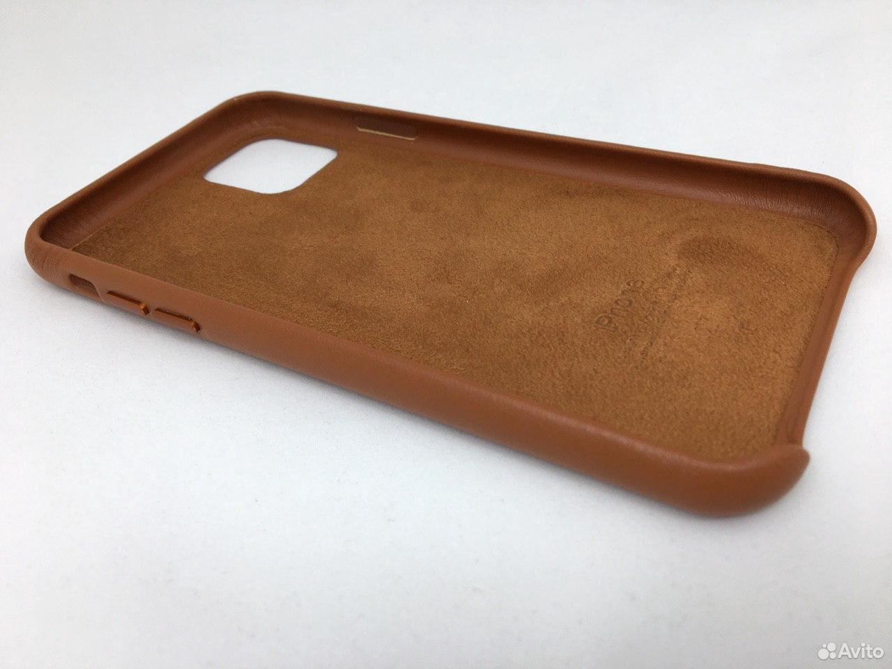 Кожаный чехол Leather Case Apple iPhone 11 Brown  89112002770 купить 5